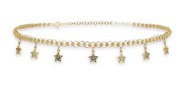 maillon choker north star charm