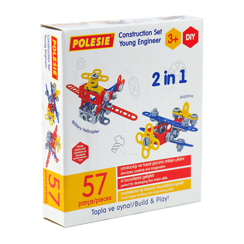 Young Engineer Construction Set (2 in one) Aeroplane and Helicopter