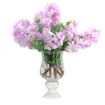 Purple cherry blossom pedestal vase