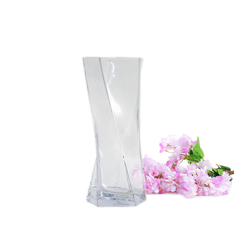 Twisted Glass Vase