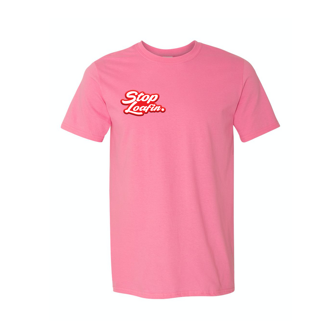Classic SL Patch Neon Pink Short Sleeve Youth Tee