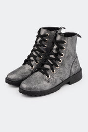Bota Coturno Feminina Tweenie #Rocky Magic Zone Metalizada Prata