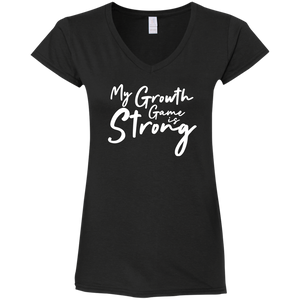 Growth Game Ladies' Fitted V-Neck Tee