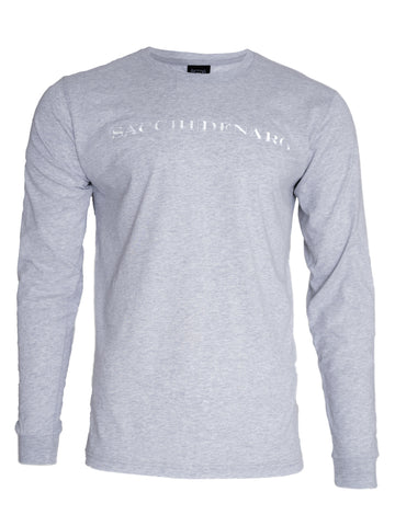 Image of GREY LONG SLEEVE T-SHIRT