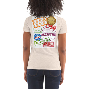 Women's Crew Neck T-shirt (Stamp Collection)