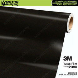 3m satin gold dust black