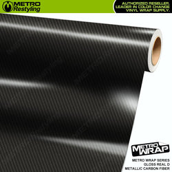 metro wrap real d metallic carbon fiber