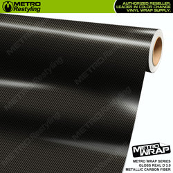 metro wrap real d 3.0 metallic carbon fiber