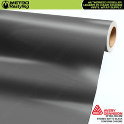 metro avery frozen matte black conform chrome