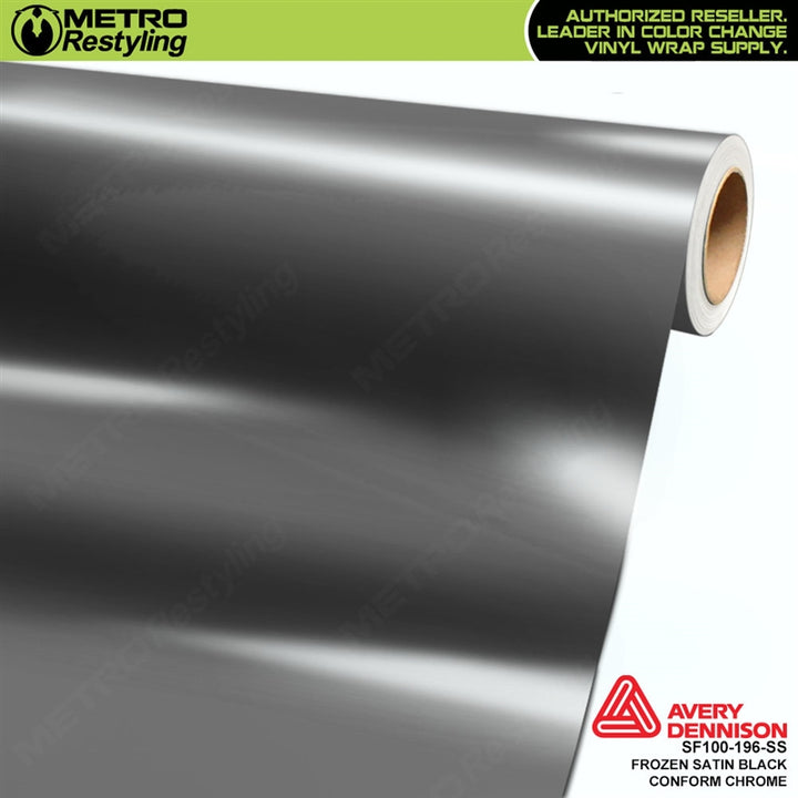 metro avery frozen satin black conform chrome