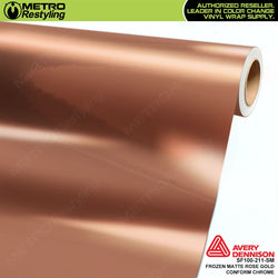 metro avery frozen matte rose gold conform chrome