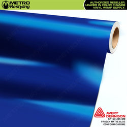 metro avery frozen matte blue conform chrome