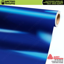 metro avery frozen satin blue conform chrome