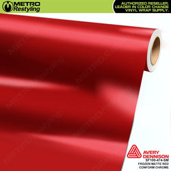 metro avery frozen matte red conform chrome