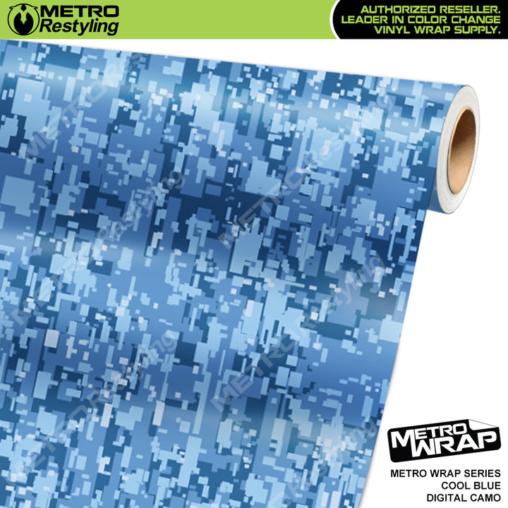 digital cool blue camouflage