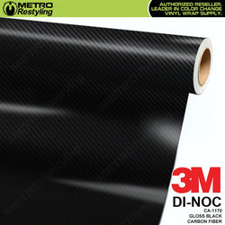3m gloss black carbon fiber di noc