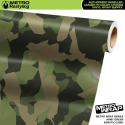 erratic army green camouflage