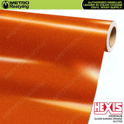 hexis gloss aurora orange glitter