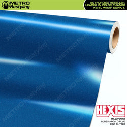 hexis gloss apollo blue fine glitter