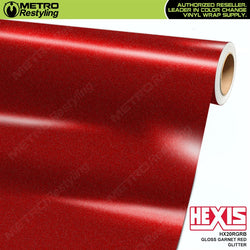 hexis gloss garnet red glitter