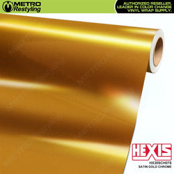 hexis satin gold super chrome