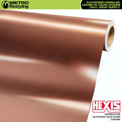 hexis satin rose gold super chrome