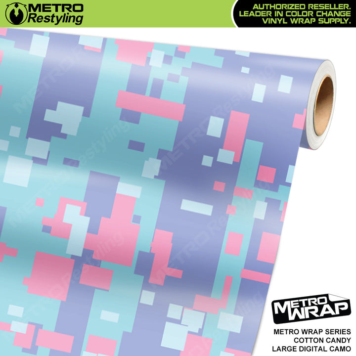 large digital cotton candy camouflage