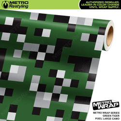 large pixel green tiger camouflage