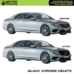 black chrome delete vinyl wrap