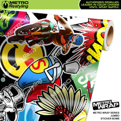 jumbo sticker bomb vinyl wrap