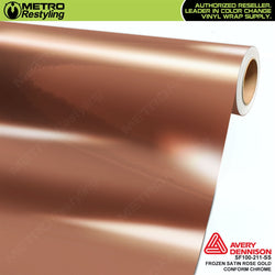 metro avery frozen satin rose gold conform chrome