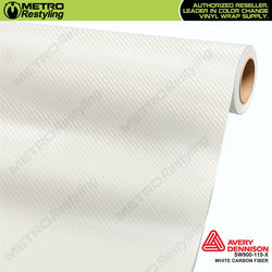 avery dennison white carbon fiber