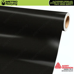 avery dennison brushed black metallic