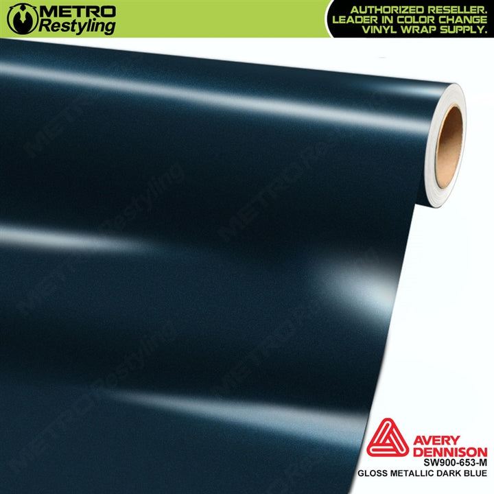 avery dennison gloss dark blue metallic