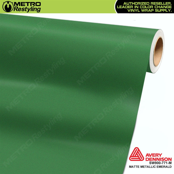 avery dennison matte metallic emerald green
