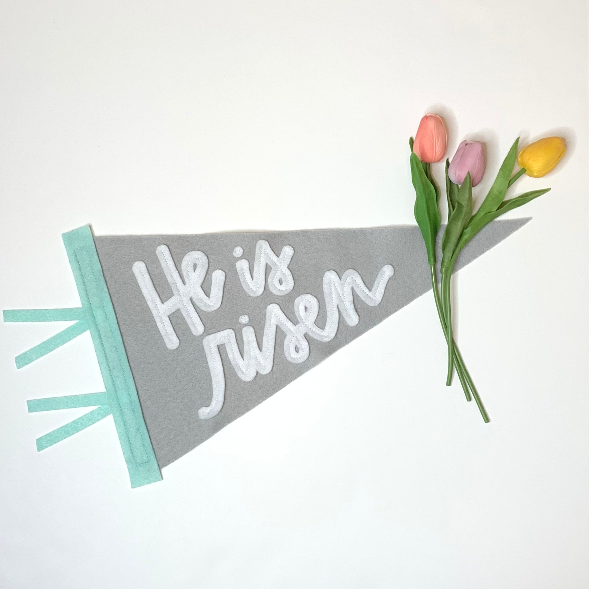 'He is Risen' Easter Pennant - Eventide Pennant Co.