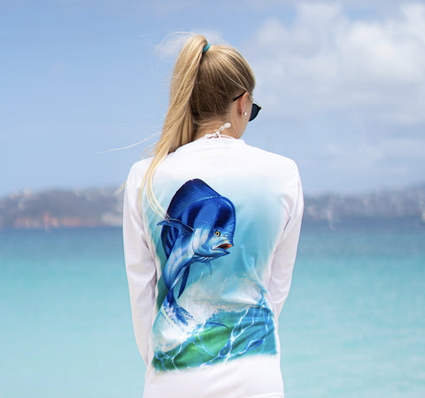 Fish Action Rash Guard