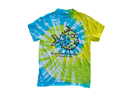 Tie-Dye Blowfish Cotton T-Shirt