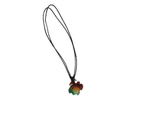 Rasta Turtle Necklace