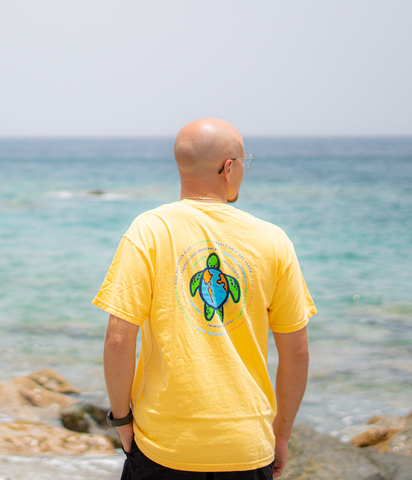 Turtle Globe Cotton T-Shirt