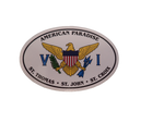Oval VI Flag Magnet
