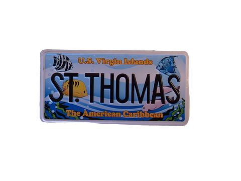 St. Thomas License Plate Magent