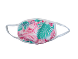 Pink Tropical Palms Fabric Mask
