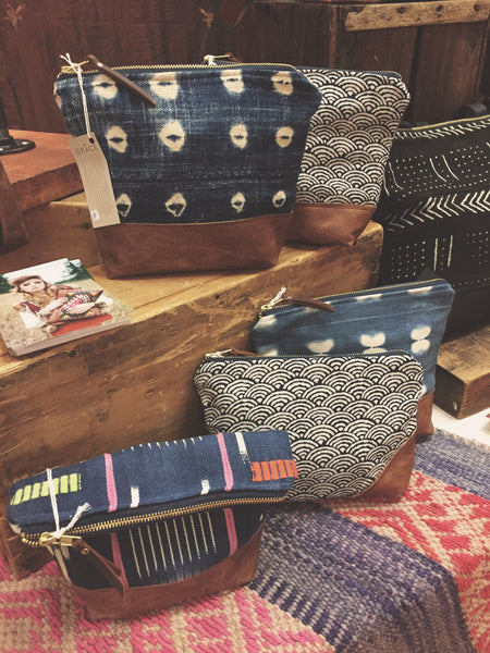 boho display, boho merchandising, boho fashion boutique, grace design bags, craft fairs toronto, boho bags, indigo bags, mudcloth bags, kilim bags