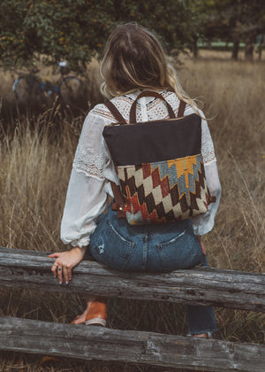 Tofino Backpack | Kilim & Canvas Brown 1