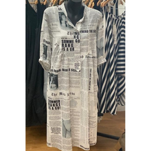 Load image into Gallery viewer, MA Dainty Newspaper Print Dress