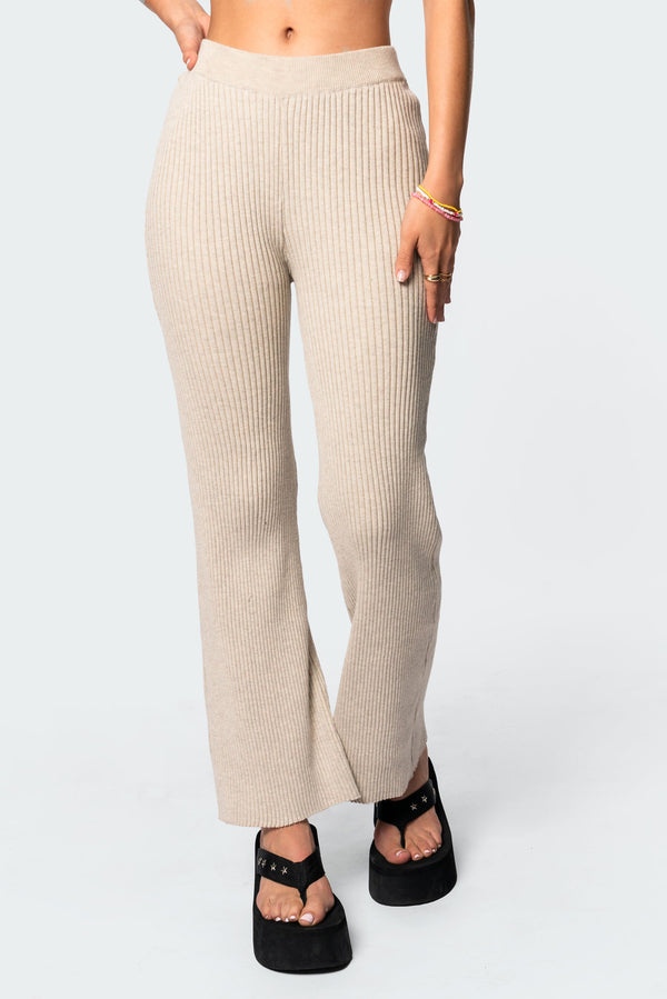 KYRA KNITTED FLARED PANTS