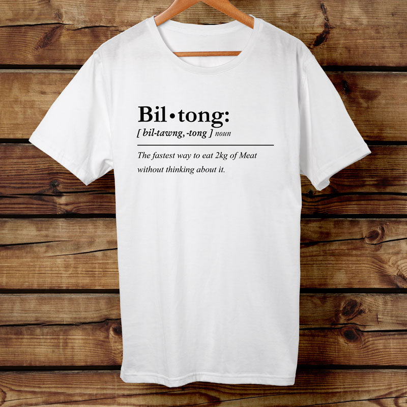 Funny White Biltong Definition Tshirt