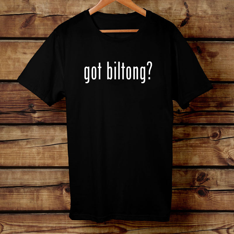 """Got Biltong"" Big Game Biltong Black Tshirt"