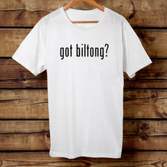 """Got Biltong"" Big Game Biltong White Tshirt"